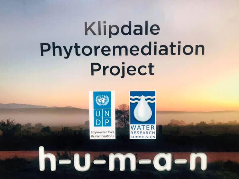 Klipdale Phytoremediation Project Sign