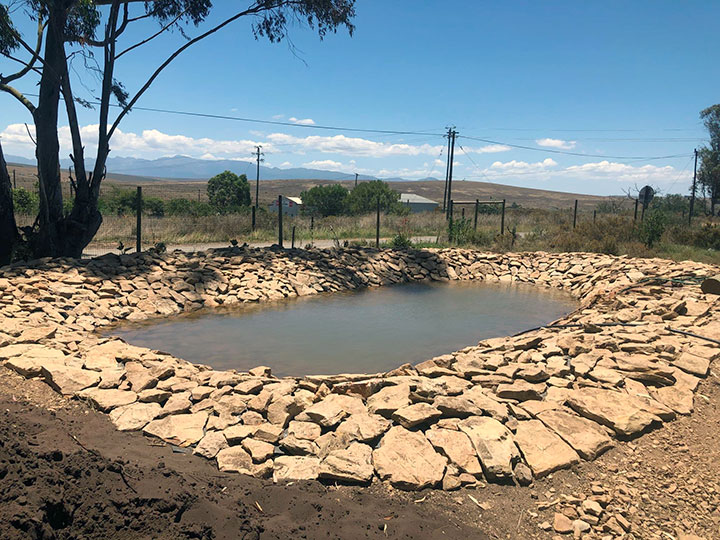 New pond for the Klipdale Groundwater Phytoremediation project